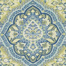 Blue/Yellow Large Scale Decorator Fabric by Duralee