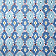Aqua Ethnic Decorator Fabric by Pindler