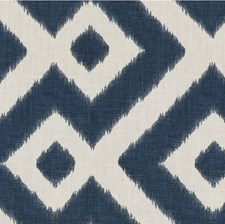 Blue/White Geometric Decorator Fabric by Kravet