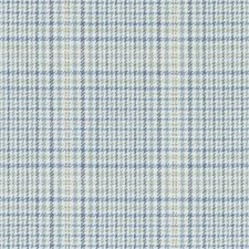 Blue/Green Houndstooth Decorator Fabric by Duralee