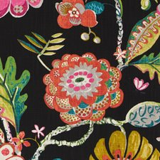 Ebony Floral Large Decorator Fabric by Duralee