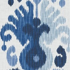 Indigo Damask Decorator Fabric by Duralee