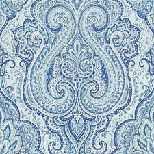 Blue/Turquoise Paisley Decorator Fabric by Duralee