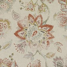 Paprika Floral Large Decorator Fabric by Duralee