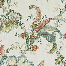 Pink/Green Floral Large Decorator Fabric by Duralee