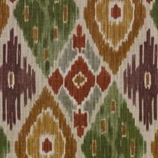Terra/Sage Diamond Decorator Fabric by Duralee