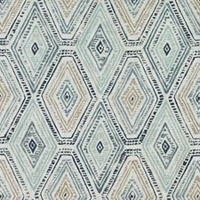 Blue/Turquoise Diamond Decorator Fabric by Duralee