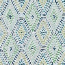 Blue/Green Diamond Decorator Fabric by Duralee