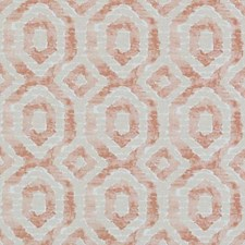 Melon Geometric Decorator Fabric by Duralee