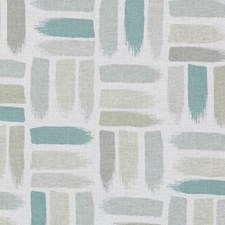 Natural/Aqua Abstract Decorator Fabric by Duralee