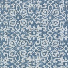Light Blue Floral Small Decorator Fabric by Duralee