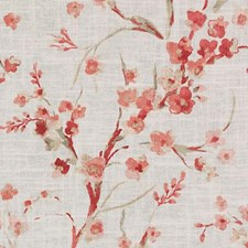 Coral Floral Small Decorator Fabric by Duralee