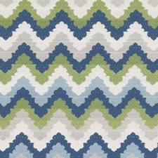 Aqua/Green Herringbone Decorator Fabric by Duralee