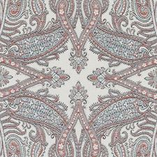 Red/Blue Paisley Decorator Fabric by Duralee