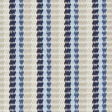 Sapphire Stripe Decorator Fabric by Duralee