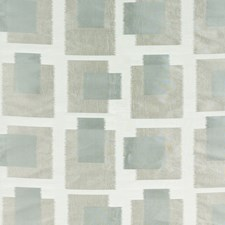 Aqua/Dove Grey Silk Decorator Fabric by Threads