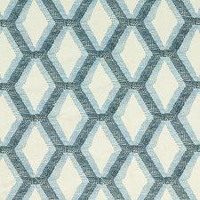 Indigo/Delft Embroidery Decorator Fabric by Threads