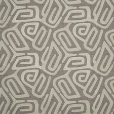 Taupe Embroidery Decorator Fabric by Threads