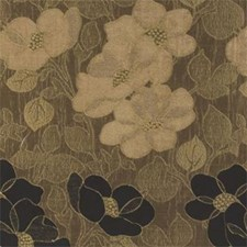 Ebony Floral Medium Decorator Fabric by Clarke & Clarke
