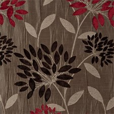Red Abstract Decorator Fabric by Clarke & Clarke