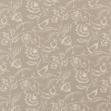Linen Floral Medium Decorator Fabric by Clarke & Clarke