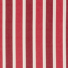Crimson Stripes Decorator Fabric by Clarke & Clarke
