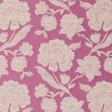 Raspberry Botanical Decorator Fabric by Clarke & Clarke