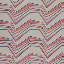 Flamingo Abstract Decorator Fabric by Clarke & Clarke
