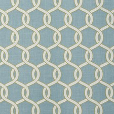 Aqua Embroidery Decorator Fabric by Clarke & Clarke