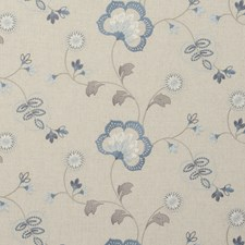 Chambray Embroidery Decorator Fabric by Clarke & Clarke
