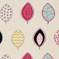 Raspberry Abstract Decorator Fabric by Clarke & Clarke