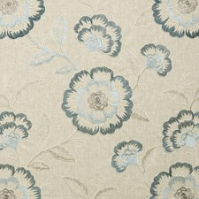 Denim Embroidery Decorator Fabric by Clarke & Clarke