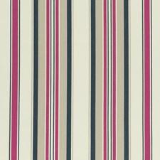 Indigo/Cerise Stripes Decorator Fabric by Clarke & Clarke