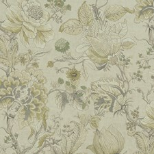 Citron/Natural Decorator Fabric by Clarke & Clarke