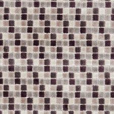 Damson Geometric Decorator Fabric by Clarke & Clarke