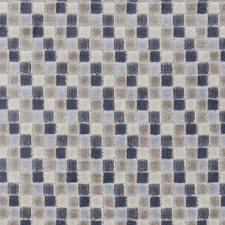 Denim Geometric Decorator Fabric by Clarke & Clarke
