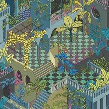 Petrol Multi Modern Decorator Fabric by Cole & Son