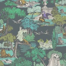 Viridian Animal Decorator Fabric by Cole & Son