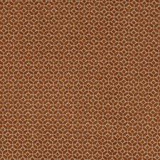 Spice Geometric Decorator Fabric by Clarke & Clarke