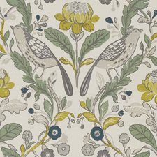 Birds Forest/Chartreuse Decorator Fabric by Clarke & Clarke