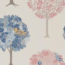 Teal/Blush Decorator Fabric by Clarke & Clarke