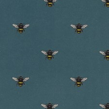Teal Decorator Fabric by Clarke & Clarke