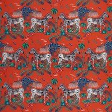 Red Animal Decorator Fabric by Clarke & Clarke