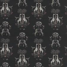 Charcoal Animal Decorator Fabric by Clarke & Clarke