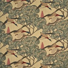 Camel/Grey Print Decorator Fabric by Mulberry Home