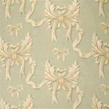 Pale Aqua Print Decorator Fabric by Mulberry Home