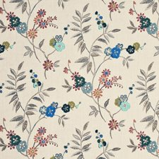 Teal/Sienna Print Decorator Fabric by Mulberry Home