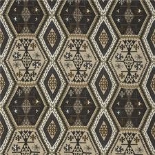 Charcoal/Bronze Print Decorator Fabric by Mulberry Home