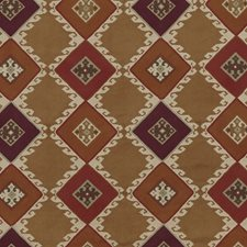 Sienna/Plum Print Decorator Fabric by Mulberry Home