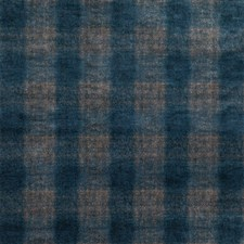 Indigo Check Decorator Fabric by Mulberry Home